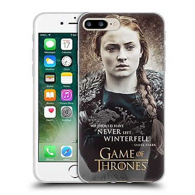 Official Hbo Game Of Thrones Character Quotes Sansa Stark Soft Gel Case For Apple Iphone 7 Plus