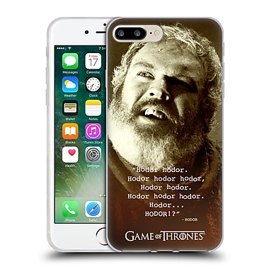 Official Hbo Game Of Thrones Hodor Memorial Type Quote Soft Gel Case For Apple Iphone 7 Plus