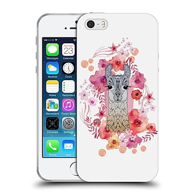 Official Monika Strigel Animals And Flowers Baby Lama Soft Gel Case For Apple Iphone 5 / 5S / Se