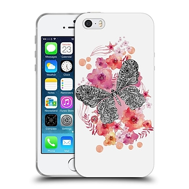 Official Monika Strigel Animals And Flowers Butterfly Soft Gel Case For Apple Iphone 5 / 5S / Se