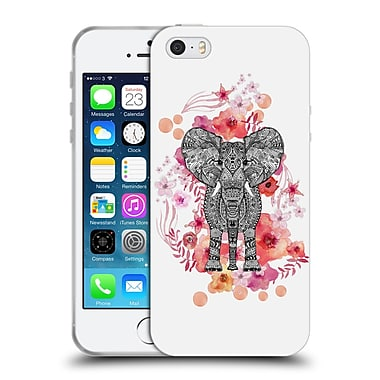 Official Monika Strigel Animals And Flowers Elephant Aztec Soft Gel Case For Apple Iphone 5 / 5S / Se