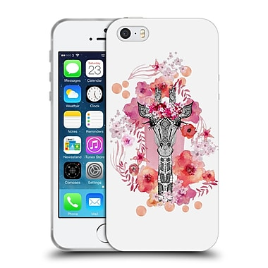 Official Monika Strigel Animals And Flowers Giraffe Soft Gel Case For Apple Iphone 5 / 5S / Se