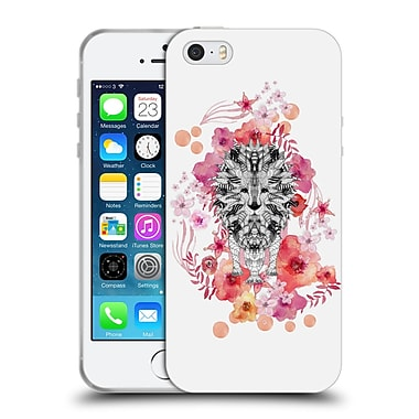 Official Monika Strigel Animals And Flowers Lion Soft Gel Case For Apple Iphone 5 / 5S / Se