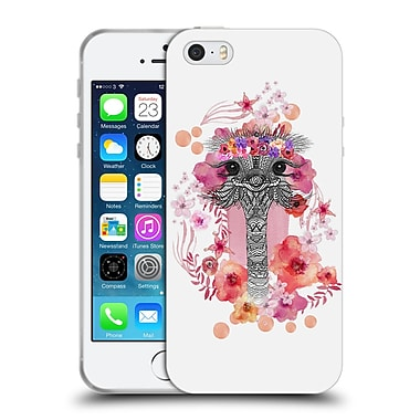 Official Monika Strigel Animals And Flowers Ostrich Aztec Soft Gel Case For Apple Iphone 5 / 5S / Se