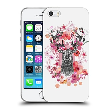 Official Monika Strigel Animals And Flowers Stag Aztec Soft Gel Case For Apple Iphone 5 / 5S / Se