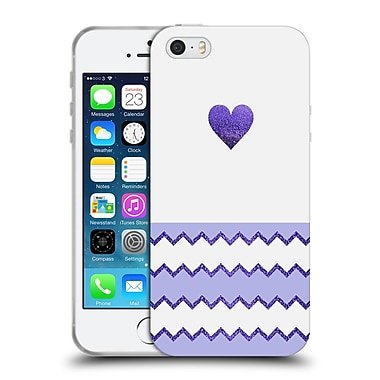 Official Monika Strigel Avalon Heart Lilac Soft Gel Case For Apple Iphone 5 / 5S / Se