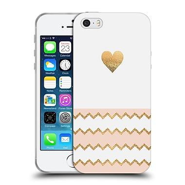 Official Monika Strigel Avalon Heart Peach Soft Gel Case For Apple Iphone 5 / 5S / Se