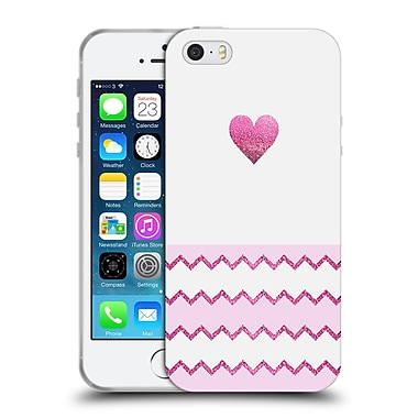 Official Monika Strigel Avalon Heart Pink Soft Gel Case For Apple Iphone 5 / 5S / Se