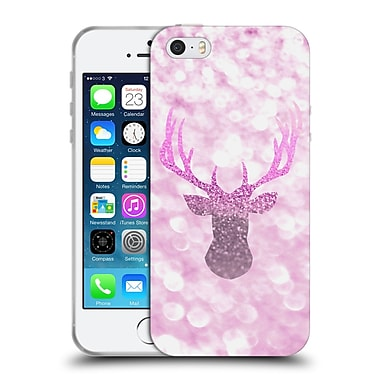 Official Monika Strigel Champagne Glitters 1 Deer Pink Soft Gel Case For Apple Iphone 5 / 5S / Se