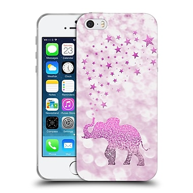 Official Monika Strigel Champagne Glitters 1 Happy Elephant Pink Soft Gel Case For Apple Iphone 5 / 5S / Se