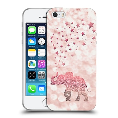 Official Monika Strigel Champagne Glitters 1 Happy Elephant Rose Soft Gel Case For Apple Iphone 5 / 5S / Se