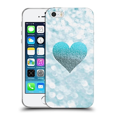 Official Monika Strigel Champagne Glitters 2 Heart Aqua Soft Gel Case For Apple Iphone 5 / 5S / Se
