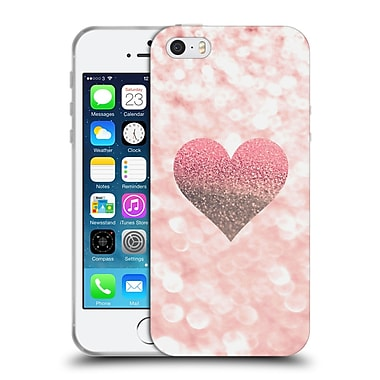 Official Monika Strigel Champagne Glitters 2 Heart Rose Soft Gel Case For Apple Iphone 5 / 5S / Se