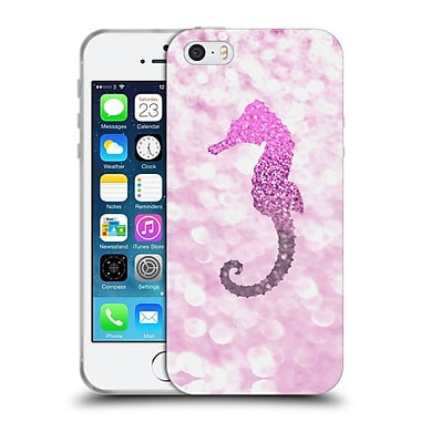 Official Monika Strigel Champagne Glitters 2 Seahorse Pink Soft Gel Case For Apple Iphone 5 / 5S / Se
