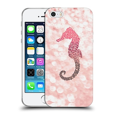 Official Monika Strigel Champagne Glitters 2 Seahorse Rose Soft Gel Case For Apple Iphone 5 / 5S / Se