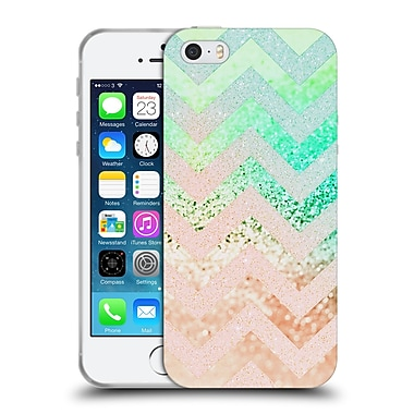 Official Monika Strigel Funky Chevron Crazy Peach Soft Gel Case For Apple Iphone 5 / 5S / Se