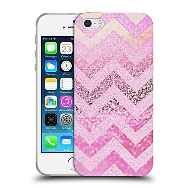 Official Monika Strigel Funky Chevron Pink Muffin Soft Gel Case For Apple Iphone 5 / 5S / Se