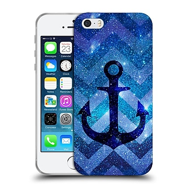 Official Monika Strigel Galaxy Anchors Blue Soft Gel Case For Apple Iphone 5 / 5S / Se