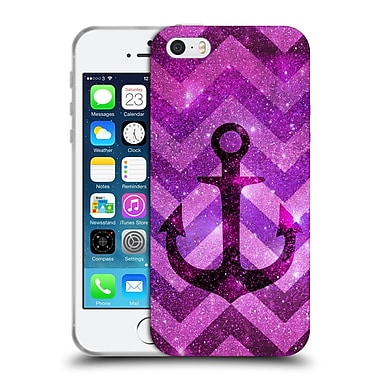 Official Monika Strigel Galaxy Anchors Lavender Soft Gel Case For Apple Iphone 5 / 5S / Se
