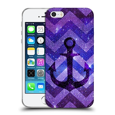 Official Monika Strigel Galaxy Anchors Purple Soft Gel Case For Apple Iphone 5 / 5S / Se