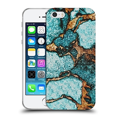 Official Monika Strigel Gemstone And Gold Blue Soft Gel Case For Apple Iphone 5 / 5S / Se
