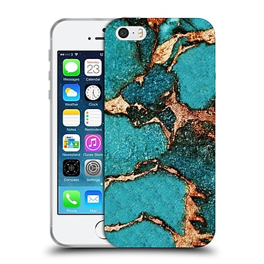Official Monika Strigel Gemstone And Gold Turqouise Soft Gel Case For Apple Iphone 5 / 5S / Se