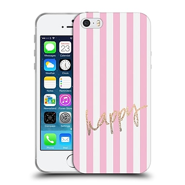 Official Monika Strigel Gold And Happy Vertical Soft Gel Case For Apple Iphone 5 / 5S / Se
