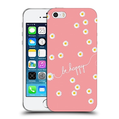 Official Monika Strigel Happy Daisy Coral Soft Gel Case For Apple Iphone 5 / 5S / Se