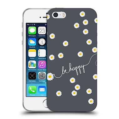 Official Monika Strigel Happy Daisy Grey Soft Gel Case For Apple Iphone 5 / 5S / Se