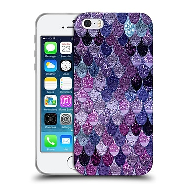 Official Monika Strigel Happy Mermaid Dark Purple Soft Gel Case For Apple Iphone 5 / 5S / Se