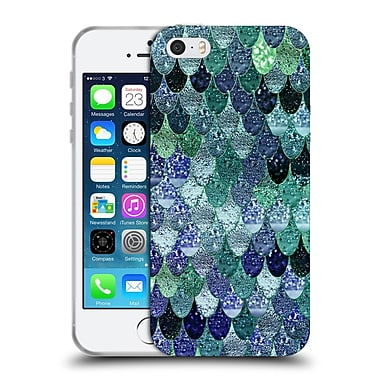 Official Monika Strigel Happy Mermaid Emerald And Blue Soft Gel Case For Apple Iphone 5 / 5S / Se