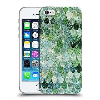 Official Monika Strigel Happy Mermaid Green And Mint Soft Gel Case For Apple Iphone 5 / 5S / Se