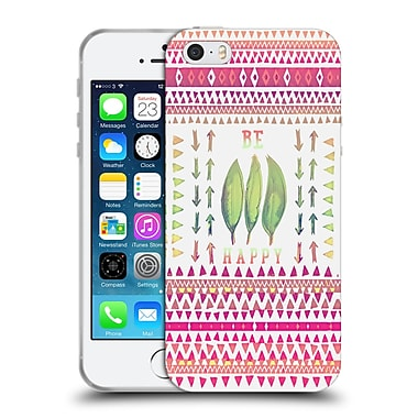 Official Monika Strigel Happy Quote Be Happy Soft Gel Case For Apple Iphone 5 / 5S / Se