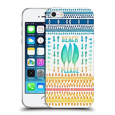 Official Monika Strigel Happy Quote Beach Please Soft Gel Case For Apple Iphone 5 / 5S / Se