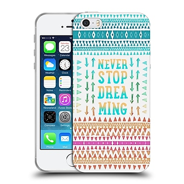 Official Monika Strigel Happy Quote Never Stop Dreaming Soft Gel Case For Apple Iphone 5 / 5S / Se