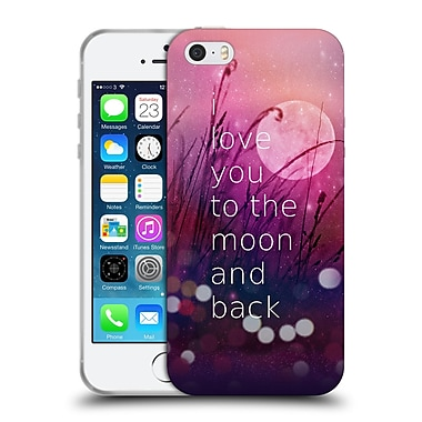 Official Monika Strigel Love Quote Pink Soft Gel Case For Apple Iphone 5 / 5S / Se