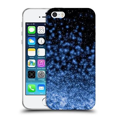 Official Monika Strigel Magic Lights Black Blue Soft Gel Case For Apple Iphone 5 / 5S / Se