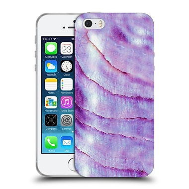 Official Monika Strigel Pastel Seashell Purple Soft Gel Case For Apple Iphone 5 / 5S / Se