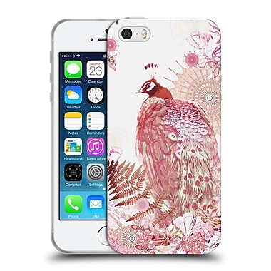 Official Monika Strigel Tropical Peacock Coral Soft Gel Case For Apple Iphone 5 / 5S / Se