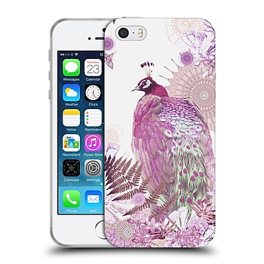 Official Monika Strigel Tropical Peacock Pink Soft Gel Case For Apple Iphone 5 / 5S / Se