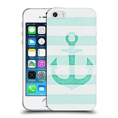 Official Monika Strigel Vintage Anchors Mint Soft Gel Case For Apple Iphone 5 / 5S / Se