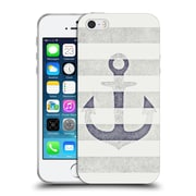 Official Monika Strigel Vintage Anchors White Soft Gel Case For Apple Iphone 5 / 5S / Se