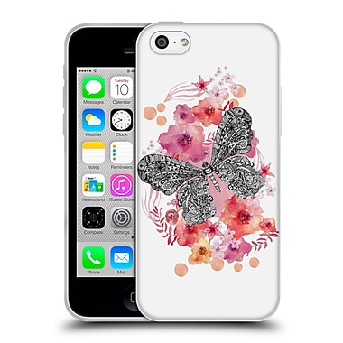 Official Monika Strigel Animals And Flowers Butterfly Soft Gel Case For Apple Iphone 5C