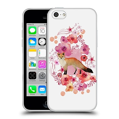Official Monika Strigel Animals And Flowers Fox Soft Gel Case For Apple Iphone 5C