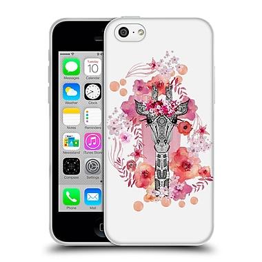 Official Monika Strigel Animals And Flowers Giraffe Soft Gel Case For Apple Iphone 5C