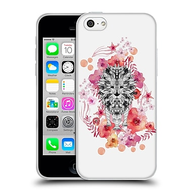 Official Monika Strigel Animals And Flowers Lion Soft Gel Case For Apple Iphone 5C