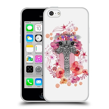 Official Monika Strigel Animals And Flowers Ostrich Aztec Soft Gel Case For Apple Iphone 5C