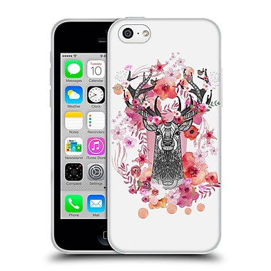 Official Monika Strigel Animals And Flowers Stag Aztec Soft Gel Case For Apple Iphone 5C