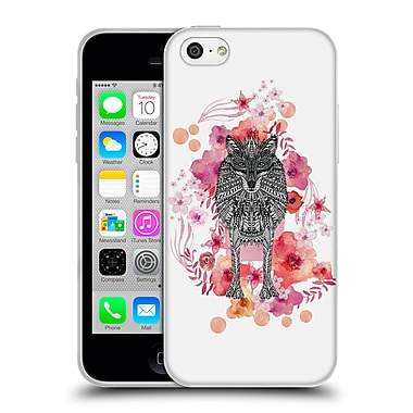 Official Monika Strigel Animals And Flowers Wolf Soft Gel Case For Apple Iphone 5C