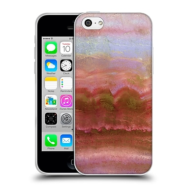 Official Monika Strigel Agate Gemstone Coral Soft Gel Case For Apple Iphone 5C